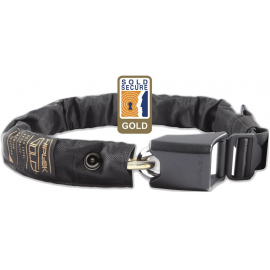 HIPLOK GOLD WEARABLE CHAIN LOCK 10MM X 85CM - WAIST 24-44 INCHES (GOLD SOLD SECURE):10MM X 85CM