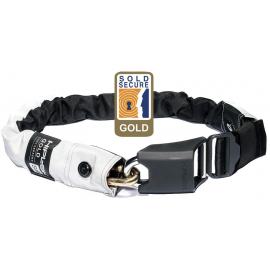 HIPLOK GOLD WEARABLE CHAIN LOCK 10MM X 85CM - WAIST 24-44 INCHES (GOLD SOLD SECURE) HIGH VISIBILITY:10MM X 85CM
