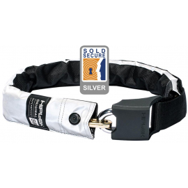 HIPLOK ORIGINAL V1.5 WEARABLE CHAIN LOCK 8MM X 90CM - WAIST 24-44 INCHES (SILVER SOLD SECURE) HIGH VISIBILITY:8MM X 90CM