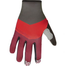 Alpine men's gloves  block classy burgundy / true red X-large