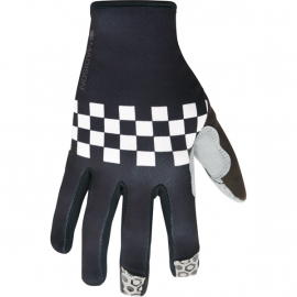 Alpine men's gloves  checkered black / white medium