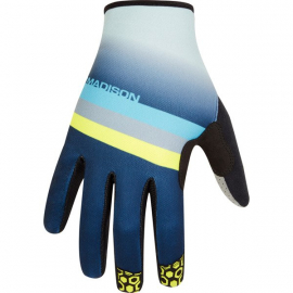 Alpine men's gloves  stripe ink navy / lime punch X-large