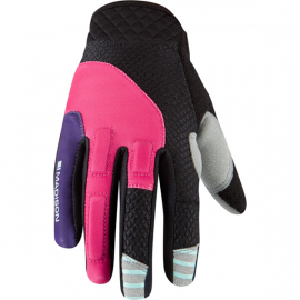 Zena women's gloves  rose red / imperial purple X-small