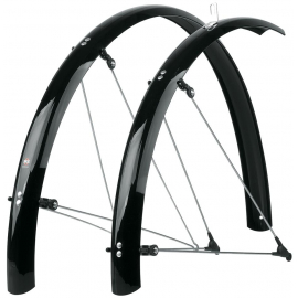 SKS BLUEMELS MUDGUARDS 60MM X 28 BLACK: